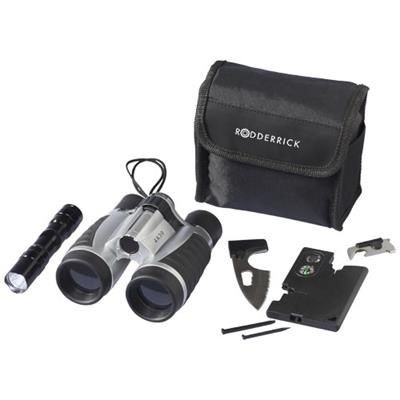 DUNDEE 16-FUNCTION OUTDOOR GIFT SET in Black Solid.