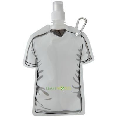 GOAL 500 ML FOOTBALL JERSEY WATER BAG in White Solid.