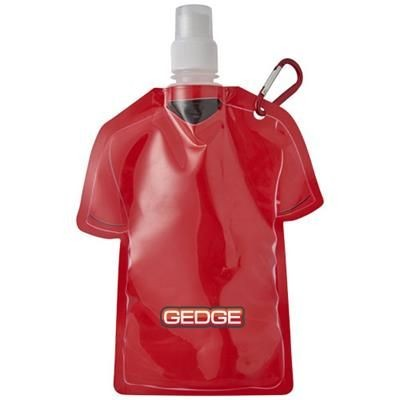 GOAL 500 ML FOOTBALL JERSEY WATER BAG in Red.