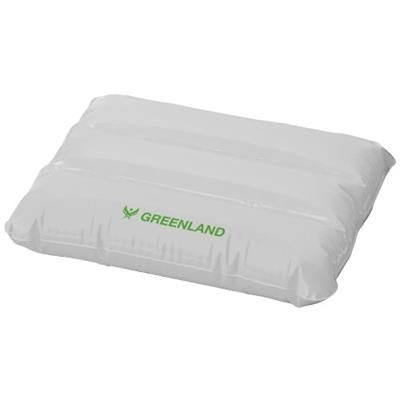 WAVE INFLATABLE PILLOW in White Solid.