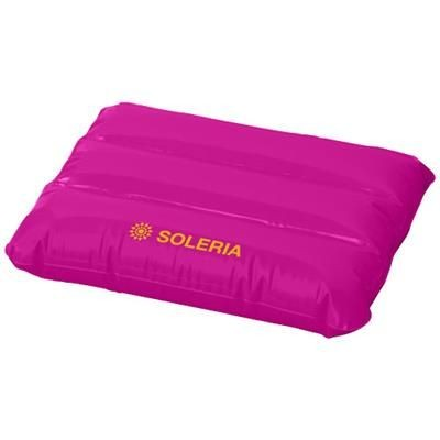 WAVE INFLATABLE PILLOW in Magenta.
