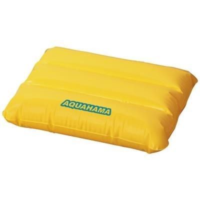 WAVE INFLATABLE PILLOW in Yellow.