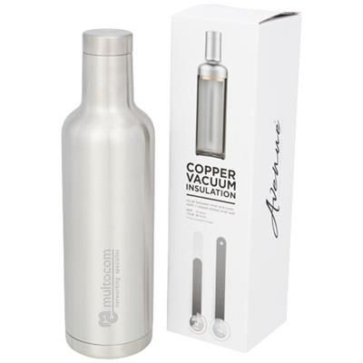 PINTO 750 ML COPPER VACUUM THERMAL INSULATED BOTTLE in Silver.
