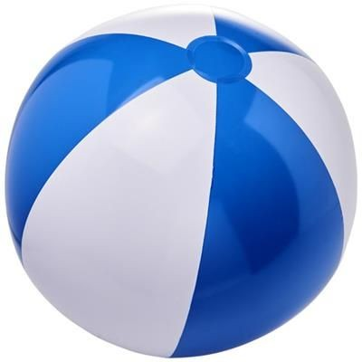 BORA SOLID BEACH BALL in Royal Blue-white Solid.