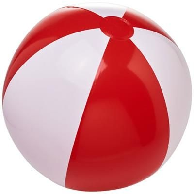 BORA SOLID BEACH BALL in Red-white Solid.