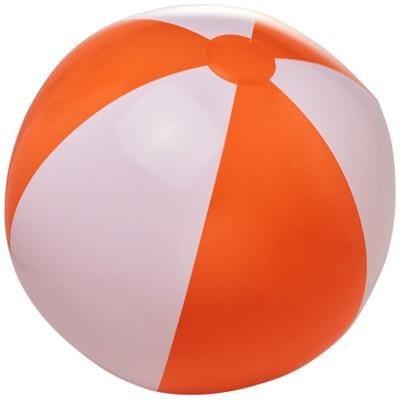 BORA SOLID BEACH BALL in Orange-white Solid.