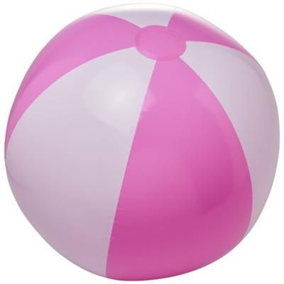 BORA SOLID BEACH BALL in Pink-white Solid.