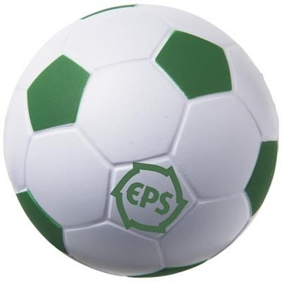 FOOTBALL STRESS RELIEVER in White Solid-green.
