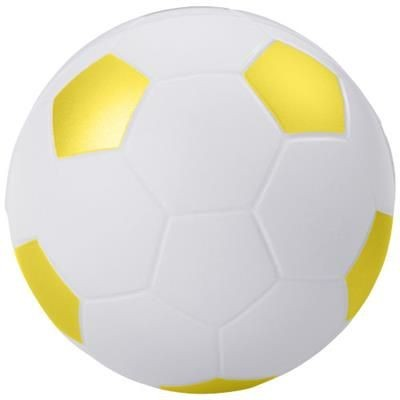 FOOTBALL STRESS RELIEVER in White Solid-yellow.
