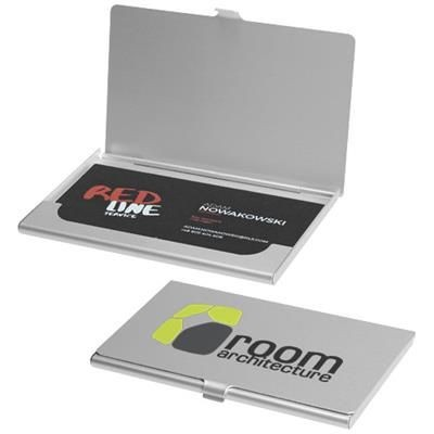 SHANGHAI BUSINESS CARD HOLDER in Silver.