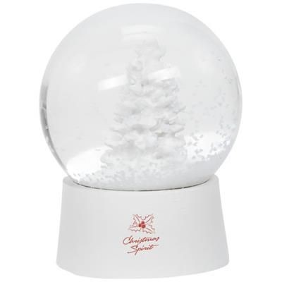SNOW GLOBE SHAKER in White Solid.