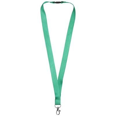 JULIAN BAMBOO LANYARD with Safety Clip in Green.