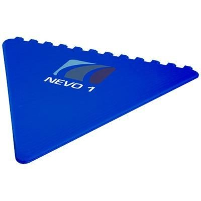 FROSTY TRIANGULAR ICE SCRAPER in Royal Blue.