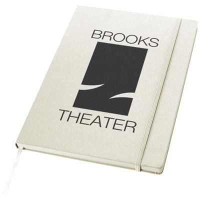 EXECUTIVE A4 HARD COVER NOTE BOOK in White Solid.