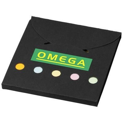 DELUXE COLOUR STICKY NOTES SET in Black Solid.