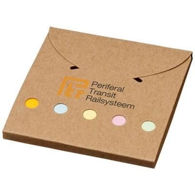 DELUXE COLOUR STICKY NOTES SET in Natural.