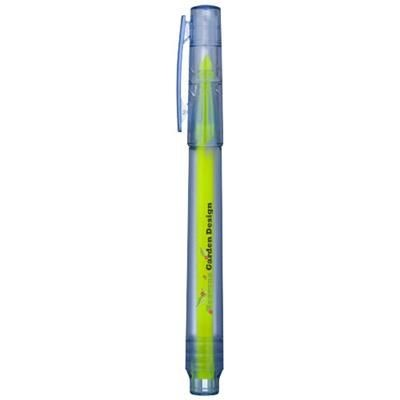 VANCOUVER RECYCLED HIGHLIGHTER in Clear Transparent Blue.