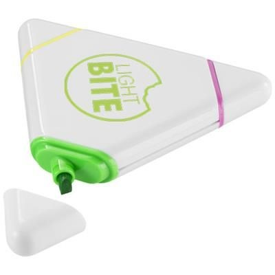 BERMUDIAN TRIANGLE-SHAPED HIGHLIGHTER in White Solid.