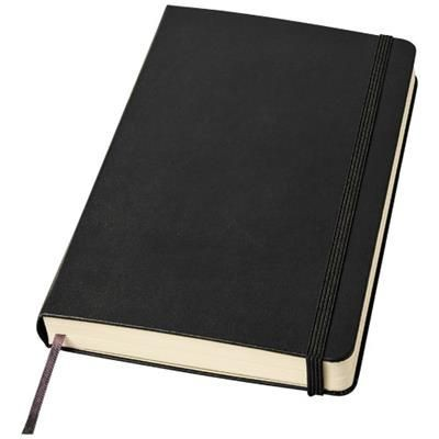 CLASSIC EXPANDED L HARD COVER NOTE BOOK - RULED in Black Solid.
