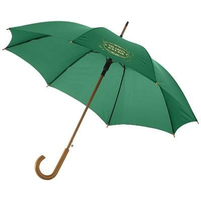 KYLE 23 AUTO OPEN UMBRELLA WOOD SHAFT AND HANDLE in Green.