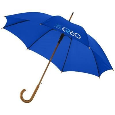 KYLE 23 AUTO OPEN UMBRELLA WOOD SHAFT AND HANDLE in Royal Blue.
