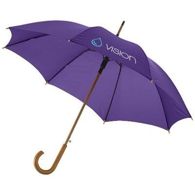 KYLE 23 AUTO OPEN UMBRELLA WOOD SHAFT AND HANDLE in Lavender.