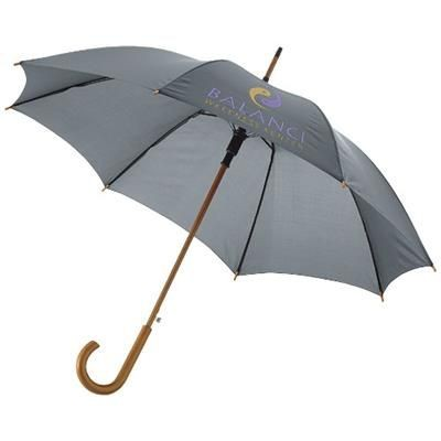KYLE 23 AUTO OPEN UMBRELLA WOOD SHAFT AND HANDLE in Grey.