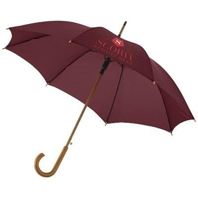 KYLE 23 AUTO OPEN UMBRELLA WOOD SHAFT AND HANDLE in Brown.