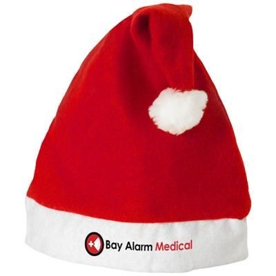 CHRISTMAS HAT in Red-white Solid.