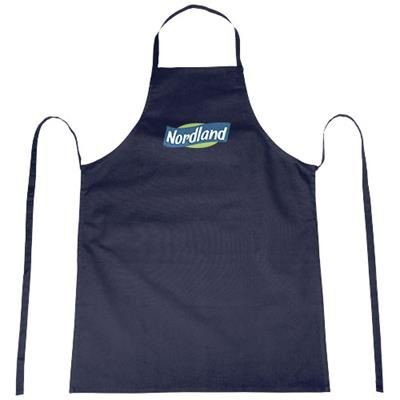REEVA 100% COTTON APRON with Tie-back Closure in Navy.