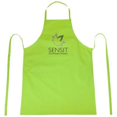 REEVA 100% COTTON APRON with Tie-back Closure in Lime.