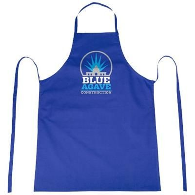 REEVA 100% COTTON APRON with Tie-back Closure in Royal Blue.