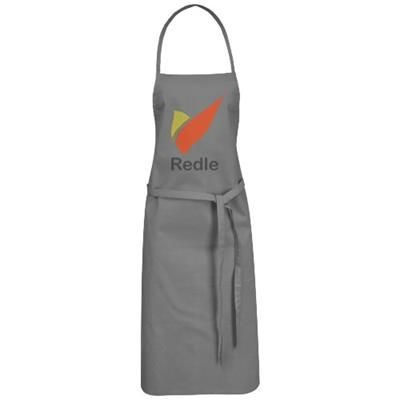 REEVA 100% COTTON APRON with Tie-back Closure in Grey.