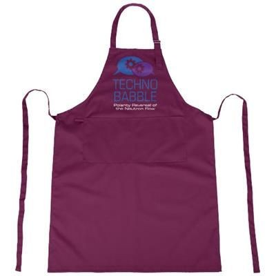 ZORA APRON with Adjustable Lanyard in Burgundy.