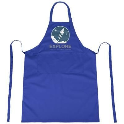 ZORA APRON with Adjustable Lanyard in Royal Blue.