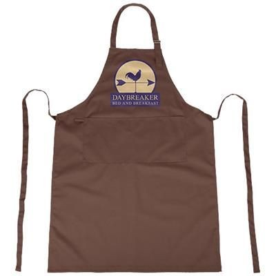 ZORA APRON with Adjustable Lanyard in Brown.