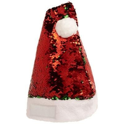 SEQUINS CHRISTMAS HAT in Red-green.