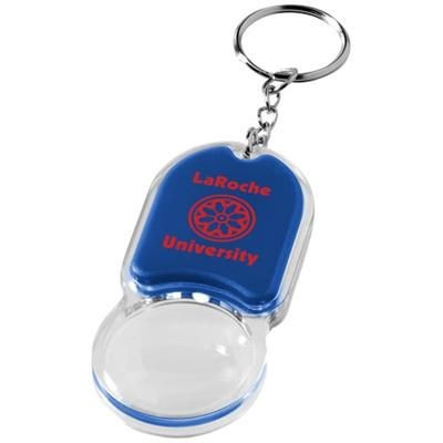 ZOOMY MAGNIFIER KEYRING CHAIN LIGHT in Royal Blue.