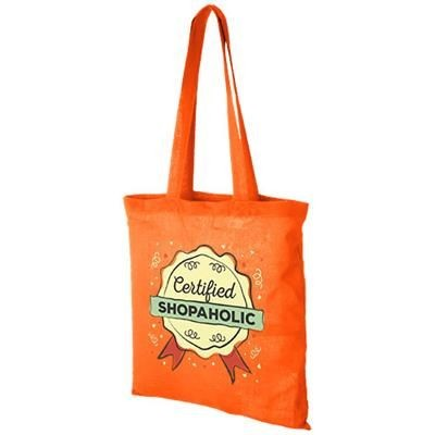 CAROLINA 100 G-M² COTTON TOTE BAG in Orange.
