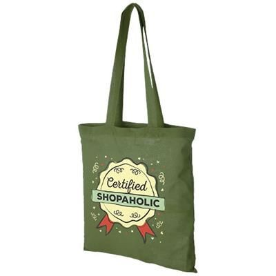 CAROLINA 100 G-M² COTTON TOTE BAG in Forest Green.
