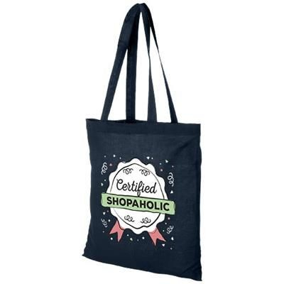 CAROLINA 100 G-M² COTTON TOTE BAG in Navy.