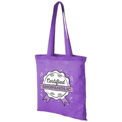 CAROLINA 100 G-M² COTTON TOTE BAG in Lavender.
