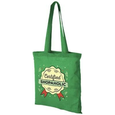 CAROLINA 100 G-M² COTTON TOTE BAG in Bright Green.