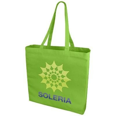 ODESSA 220 G-M² COTTON TOTE BAG in Lime.