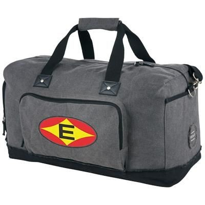 HUDSON WEEKEND TRAVEL DUFFLE BAG in Grey-black Solid.