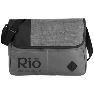 OFFSET MESSENGER BAG in Grey-black Solid.