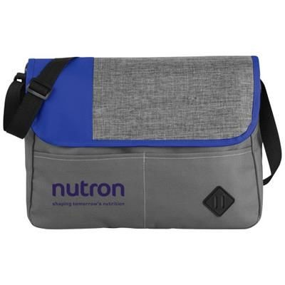OFFSET MESSENGER BAG in Grey-royal Blue.