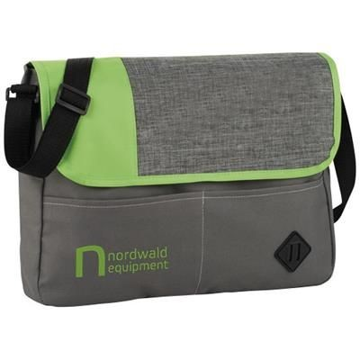 OFFSET MESSENGER BAG in Grey-green.