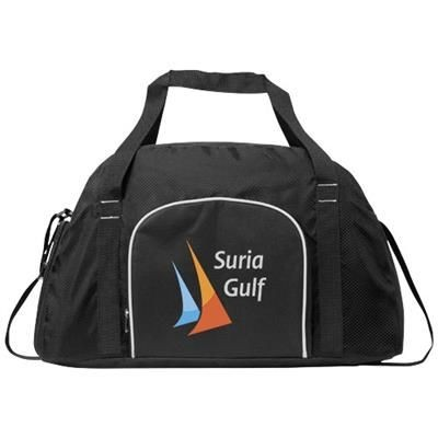 TRACK SPORTS DUFFLE BAG in Black Solid.