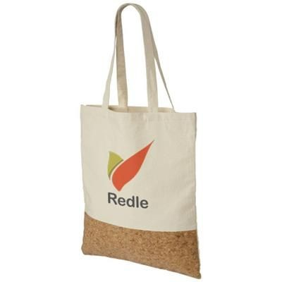 CORY 175 G-M² COTTON AND CORK TOTE BAG in Natural.